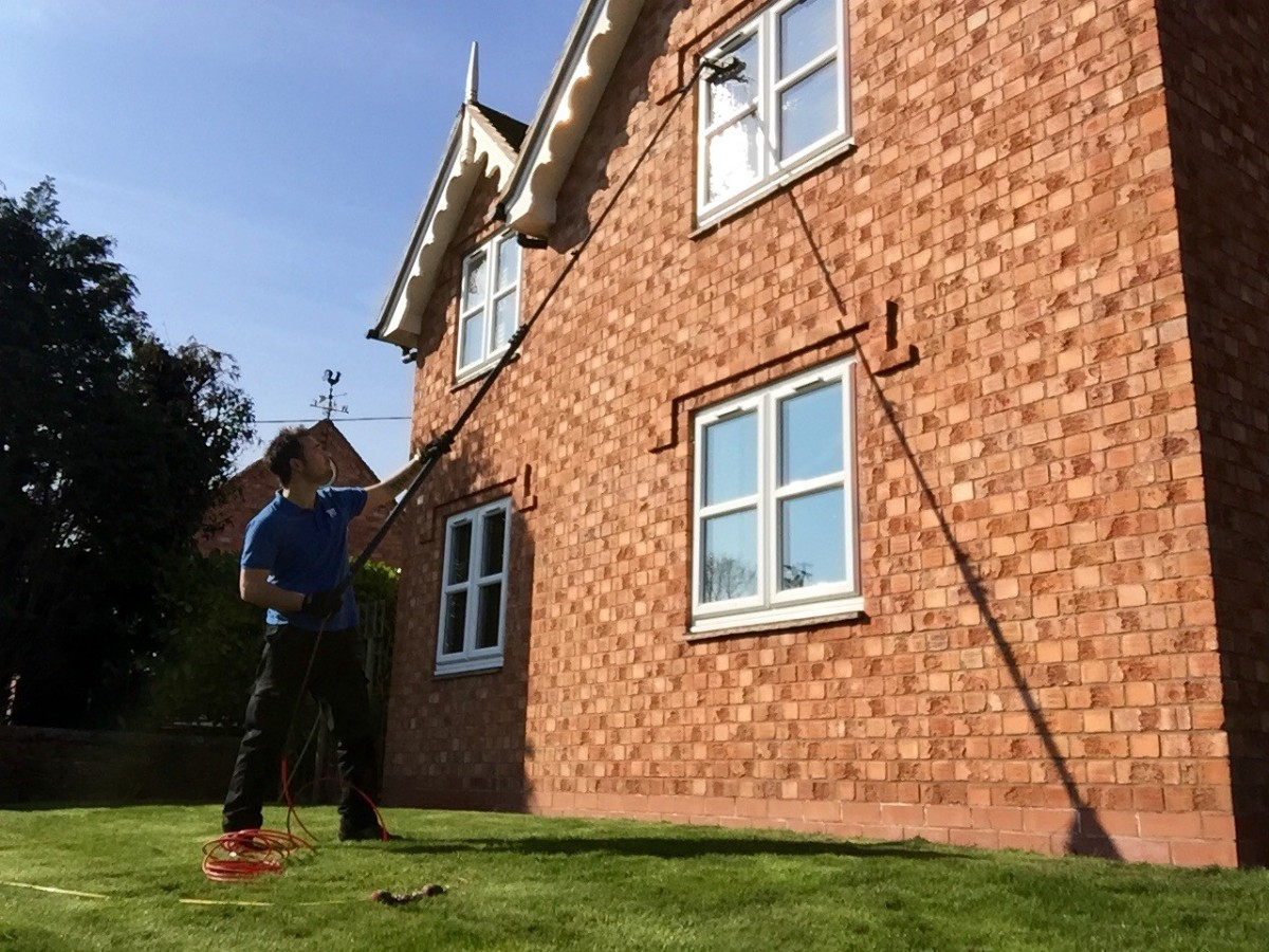 Window Cleaner in Shrewsbury, image of AG Window Cleaning - Residential window cleaning