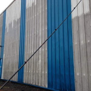 Cladding on a commercial building
