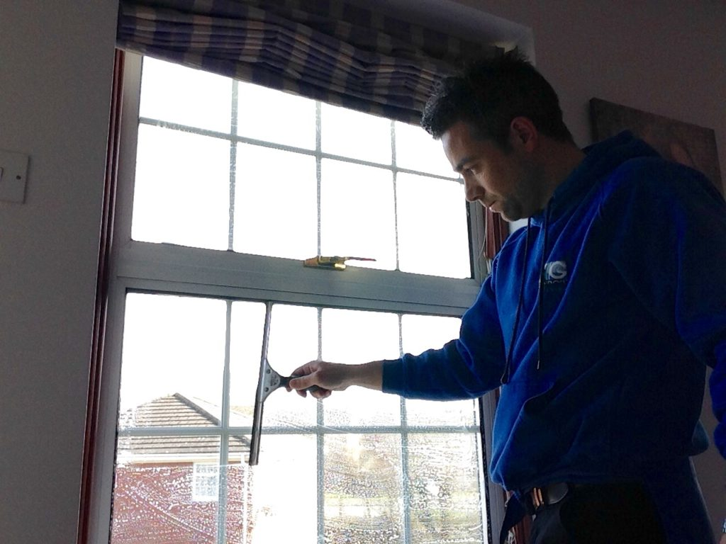 Window Cleaner in Shrewsbury, image of AG Window Cleaning - Traditional internal window cleaning services