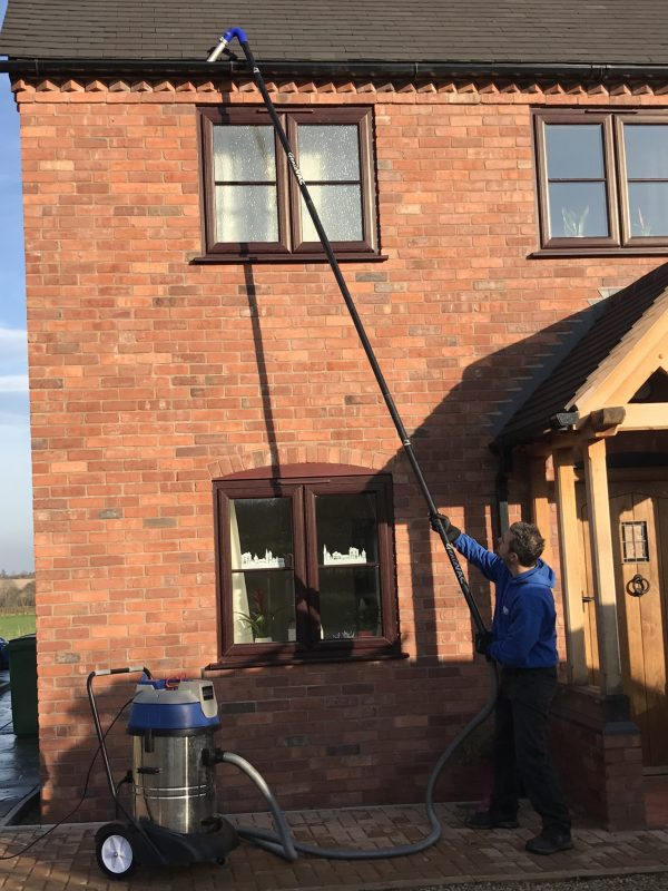 Window Cleaner in Shrewsbury, image of AG Window Cleaning - Gutter emptying-clearing services