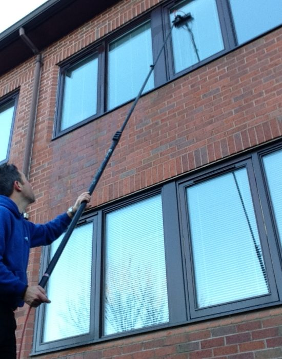 Window Cleaner in Shrewsbury, image of AG Window Cleaning - Commercial office cleaning services